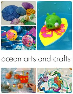 Preschool Ocean Theme Art and Crafts