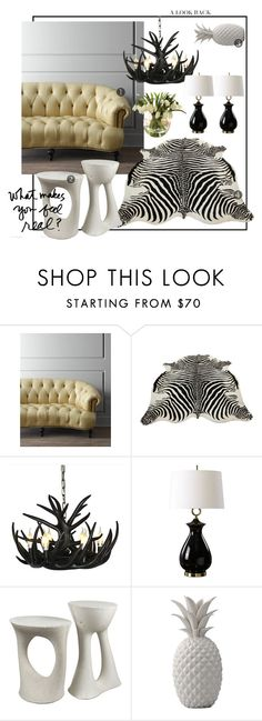 """No Joke"" by kowanse on Polyvore featuring interior, interiors, interior design, дом, home decor, interior decorating, Old Hickory Tannery, Amara, Uttermost и Souda"