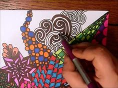 Sharpie Zentangle Bookmarks made by Tiffany Lovering as gifts for people who donated to her GoFundMe project. This is such a cool idea and I really found the video relaxing. :)