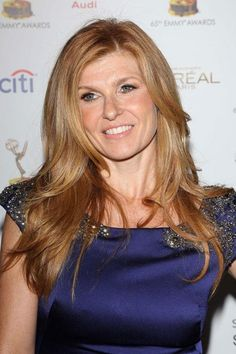 Connie Britton's long, blended layers are especially flattering for thick hair. #ThickHair #Hair