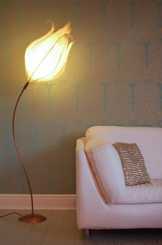 Tall Faith Lamp (Curved Stem) by Colin Chetwood - Radiance | How beautiful is this lamp!? Would be great for a girls nursery