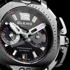 Clerc Hydroscaph Central Chronograph Steel