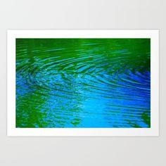 Waves in blue Art Print by msalazar Waves, Art Prints, Wall Art, Artwork, Nature, Blue, Design, Art Impressions, Work Of Art