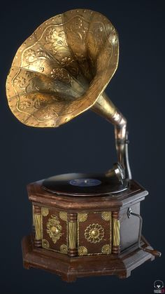 This is an in-game gramophone I've been working on for an internship entry test. Vintage Poster, Retro Vintage, Antique Items, Vintage Items, Cool Things To Buy, Old Things, Record Players, Vintage Records, Phonograph