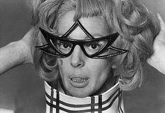 Fashion Guru, Tiger Morse always shielded by a pair of extraordinary sunglasses.