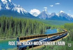 Ride the train across the Rockys
