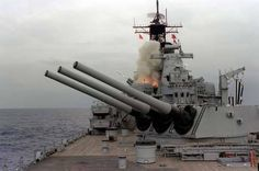 Save the Navy& Mark 7 caliber Cannons: Big sticks . Battleship Missouri, Uss Iowa, Us Battleships, Gun Turret, Star Laser, Naval History, Big Guns, Military Weapons, United States Navy