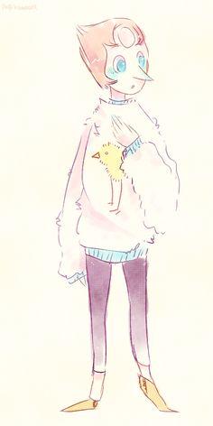 Cute Pearl / Steven Universe <<< BIRD MOM IS WEARING A BIRD SHIRT. I APPROVE.
