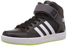 adidas Varial Mid, Unisex-Erwachsene Hohe Sneakers, Schwarz (Core Black/Ftwr White/Solar Yellow), 43 1/3 EU (9 Erwachsene UK) - http://on-line-kaufen.de/adidas/43-1-3-eu-adidas-varial-mid-unisex-erwachsene-hohe
