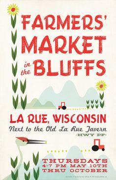 Wisconsin Farmer's Market Poster by ShopAmySullivan on Etsy. $20.00, via Etsy.