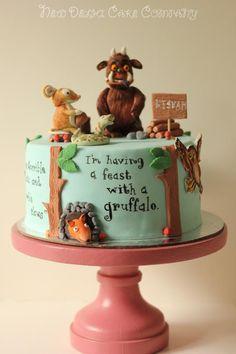 Gruffalo - Cake by smitam 5th Birthday Boys, 40th Birthday Cakes, Baby Girl First Birthday, Birthday Ideas, Gruffalo Party, Movie Cakes, Woodland Cake, Best Party Food, Cupcakes
