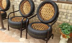 A chair made from tires mildlyinteresting is part of Tire furniture - Tire Furniture, Car Part Furniture, Automotive Furniture, Recycled Furniture, Furniture Design, Handmade Furniture, Automotive Group, Modern Furniture, Diy Para A Casa