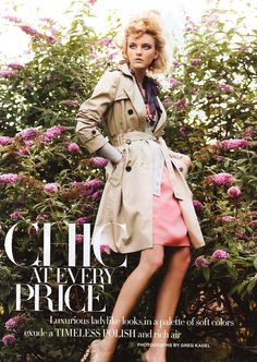 Caroline Trentini by Greg Kadel for Harper's Bazaar US October 2008