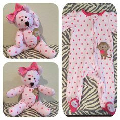 Stuffed animal out of baby's favorite pj's!