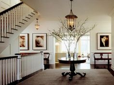 modern french doors   Attractive Lighting For Foyer: Modern Foyer Decorating ~ Chandeliers ...