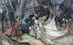 'The Meeting of Oberon and Titania' - Arthur Rackham