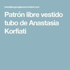 Patrón libre vestido tubo de Anastasia Korfiati