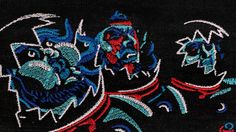 After a successful Kickstarter campaign, the british duo Throne, were given the funding to develop an embroidered music video for the song, Tharsis Sleeps. Taking inspiration from embroidered heavy metal patches, Nicos Livesey, imaged the possibility of animating them. A total of 3,000 embroidered scenes were assembled to create the video.