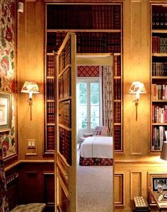 Hidden Doors and Secret Passageways are always a cool amenity to any house. Not only does provide mystery to your living quarters, but it also allows for a bit of privacy. While hidden doors may not be found in everyone's… Continue Reading → Door Design, House Design, Panic Rooms, Interior And Exterior, Interior Design, Hidden Rooms, Secret Rooms, French Doors, My Dream Home