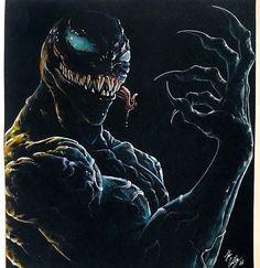 Venom Spiderman, Marvel Venom, Marvel Villains, Marvel Art, Marvel Heroes, Marvel Comics, Comic Book Characters, Marvel Characters, Comic Character