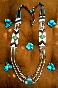 ~ earth tone weaving necklace ~ by AowDusdee, via Flickr