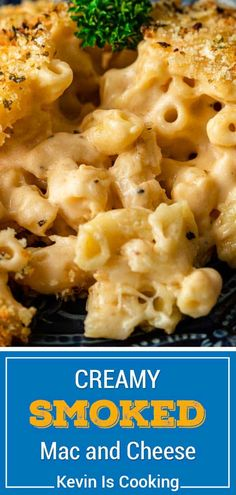 Smoked Mac and Cheese is a creamy, cheesy pasta side dish with crispy crumb coating. Make this recipe in a wood fire smoker, pellet smoker, or electric smoker! #smokingrecipes #smokerrecipes #smokedmacandcheese #macaroniandcheese Pasta Side Dishes, Pasta Sides, Healthy Side Dishes, Vegetable Side Dishes, Side Dish Recipes, Easy Dinner Recipes, Pasta Recipes, Weeknight Recipes, Noodle Recipes
