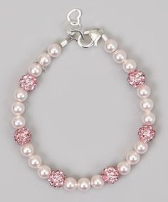 Pink Pearl Pave Bead Bracelet Made With SWAROVSKI ELEMENTS by Crystal Dream #zulily #zulilyfinds