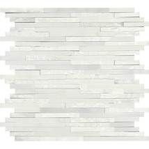 First Snow Elegance Random Mosaic - Marble Collection by daltile