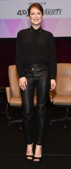 Julianne Moore head-to-toe Givenchy attends CinemaCon in Las Vegas.