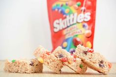 Skittles Rice Krispie Treats