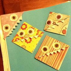 Homemade bookmarks! I used scrapbook paper and glue! Super easy!