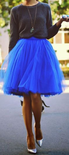 tulle skirt in sapphire blue http://rstyle.me/n/smv8kpdpe