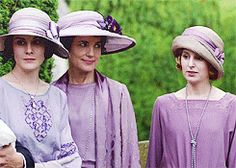 Downton Abbey lavender christening dresses - lavender was a mourning color.