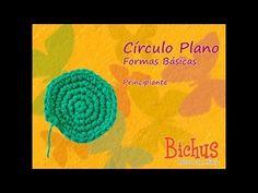 ▶ Bichus - Amigurumis Formas Planas - Círculo - YouTube