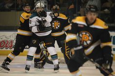 Worcester Sharks forward James Sheppard looks for a deflection in front of Providence Bruins goaltender Malcolm Subban (Oct. 18, 2014).
