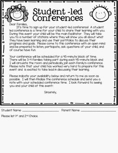 As promised today I'm posting all about student-led conferences. (Keep reading for your Freebie) I was first introduced to student-led co...