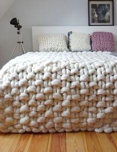 Chunky knit throw, chunky wool blanket, giant knit blanket, Chunky throw merino…                                                                                                                                                                                 Mais
