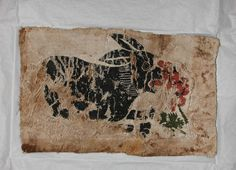 Coptic Egyptian fragment of a panel with a decoration of a hare eating grapes, ca. 401-500 CE