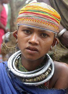 Mundiguda market. A lot of people there are Bonda; others are Didayi tribal people.