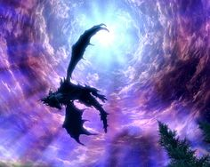 Alduin in Sovngarde.  Id put this on the ceiling for the baby to look at.