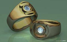 Gold Diamond Lantern by JeremyMallin on DeviantArt Superman Ring, Camera Shutter Speed, Lantern Rings, Exhibition Booth Design, Ring Designs, Dc Comics, Gemstone Rings, Rings For Men, Wedding Rings