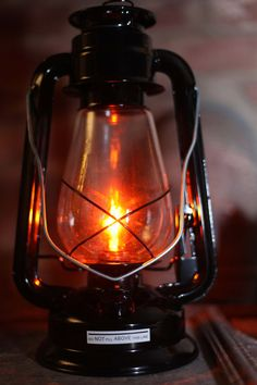 Electric Hurricane Lantern Table Lamp BLACK by MikeMBurkeDesigns, $39.95