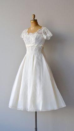 1950's 'Thing of Beauty' Silk & Lace Wedding Dress