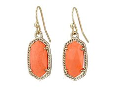 Kendra Scott Lee Earring Gold Coral - Zappos.com Free Shipping BOTH Ways