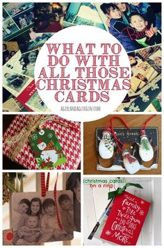 What To Do With Your Christmas Cards ☺️