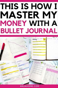 Discover how I set up my bullet journal and master my personal finance with such bullet journal budget layouts like spendinfg log, savings tracker, expense tracker, gratitude log, and budgeting spread #anjahome #bulletjournal Learn what is a money journal and how to organize your finances in a bullet journal
