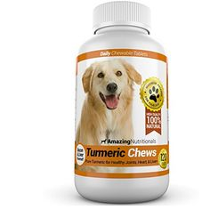 Amazing Turmeric for Dogs Curcumin Pet Antioxidant, Eliminates Joint Pain Inflammation, 120 Chews -- Check out this great product.