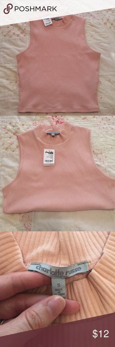 NWT crop top mock turtleneck Brand new never worn. Lots of stretch! Charlotte Russe Tops Crop Tops