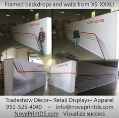 Any shape and size can be made out of the RexFrame system. We've made them all, from XS-XXXL! www.novaprintds.com