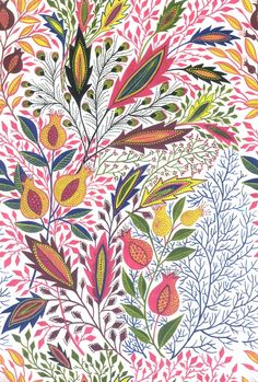 beautiful colors and design in this print...